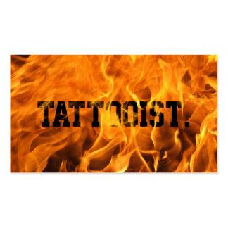 Tarjeta de visita ardiente fresca del arte del tat