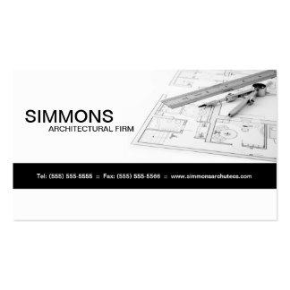 Tarjeta de visita arquitectónica negra del proyect