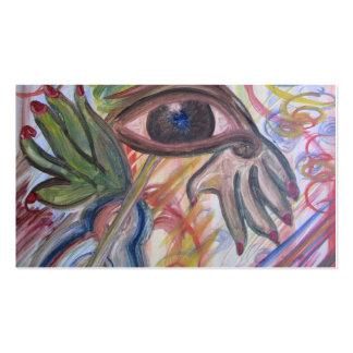 Tarjeta de visita, arte abstracto tarjetas de visita