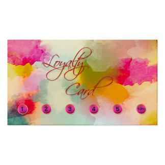 Tarjeta de visita artística colorida de la tarjeta