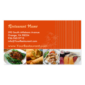 Tarjeta de visita asiática de restaurante