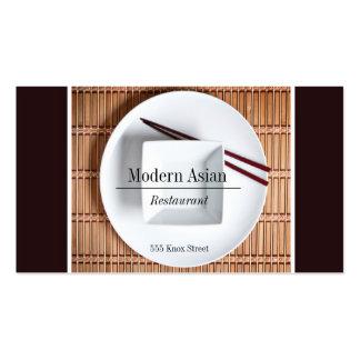 Tarjeta de visita asiática moderna de restaurante