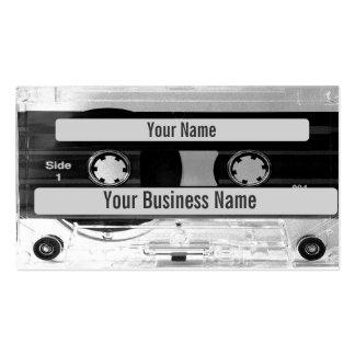 Tarjeta de visita audio de la cinta de casete de