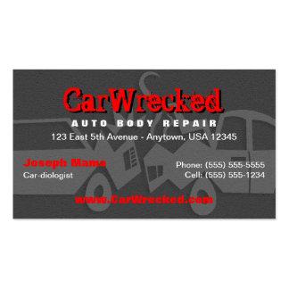 Tarjeta de visita auto de la reparación del cuerpo