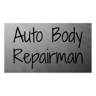 Tarjeta de visita auto del reparador del cuerpo