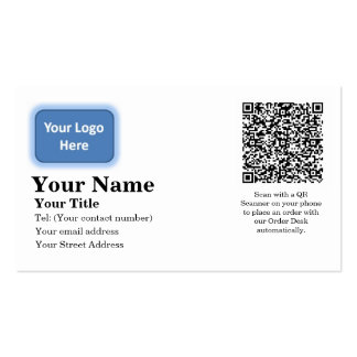 Tarjeta de visita automática de la orden del corre