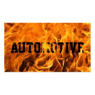 Tarjeta de visita automotriz del fuego ardiente fr