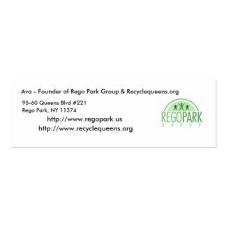 Tarjeta de visita Ava - fundador del par de Rego…