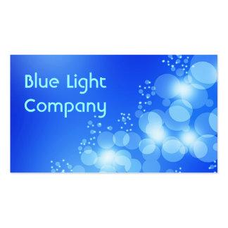 Tarjeta de visita azul