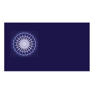 tarjeta de visita azul abstracta del starburst