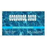 Tarjeta de visita azul clara de la piscina