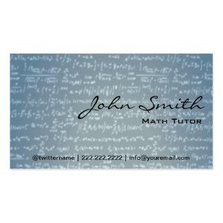 Tarjeta de visita azul clara del profesor particul