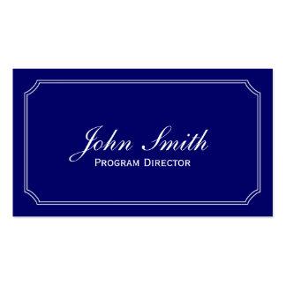 Tarjeta de visita azul clásica del director de pro
