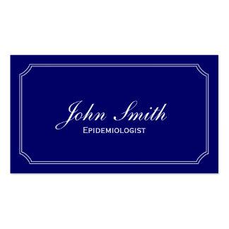 Tarjeta de visita azul clásica del epidemiólogo