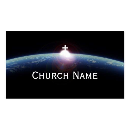 Tarjeta de visita azul cruzada santa del pastor de