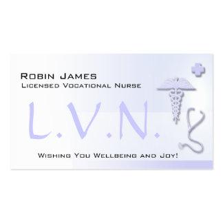 Tarjeta de visita azul de L V N Custom Lavender d