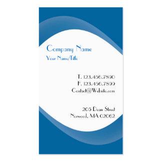 Tarjeta de visita azul de la curva