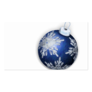 Tarjeta de visita azul de la etiqueta del regalo