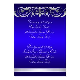 Tarjeta de visita azul de la grande duquesa huéspe