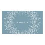 Tarjeta de visita azul de la mandala de la yoga