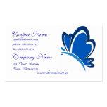 Tarjeta de visita azul de la mariposa