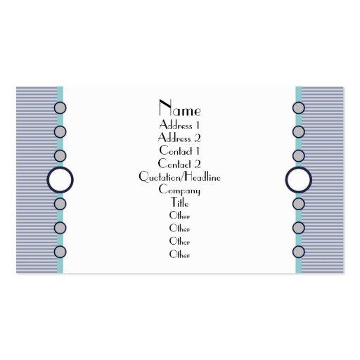 Tarjeta de visita azul de los círculos simples