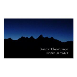 Tarjeta de visita azul de Teton