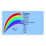 Tarjeta de visita azul del arco iris