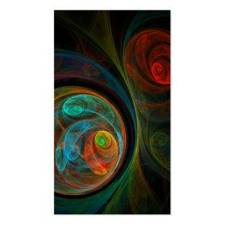 Tarjeta de visita azul del arte abstracto del