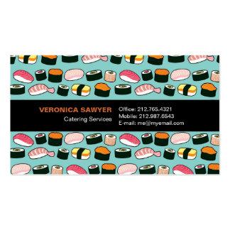 Tarjeta de visita (azul) del cocinero/del abastece
