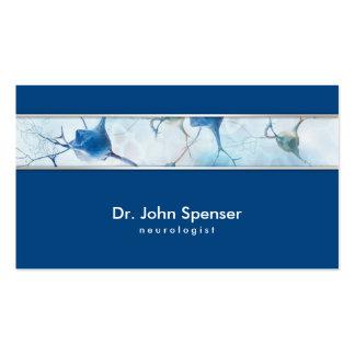 Tarjeta de visita azul del neurólogo