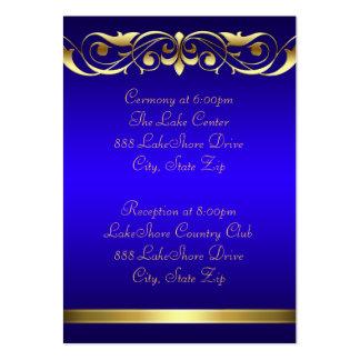 Tarjeta de visita azul del oro de la grande duques