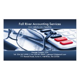 Tarjeta de visita azul elegante de la contabilidad