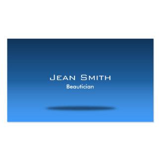 Tarjeta de visita azul elegante del Beautician del