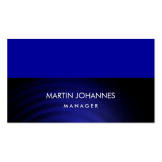 Tarjeta de visita azul elegante llana elegante del