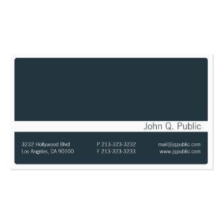 Tarjeta de visita azul gris oscuro de Minimalistic