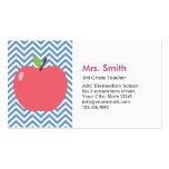 Tarjeta de visita azul linda del profesor de Apple