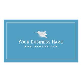 Tarjeta de visita azul llana simple del colibrí