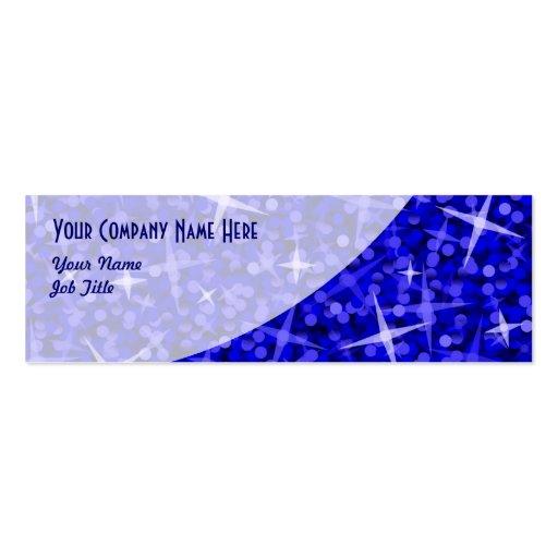Tarjeta de visita azul marino de la curva del Glit