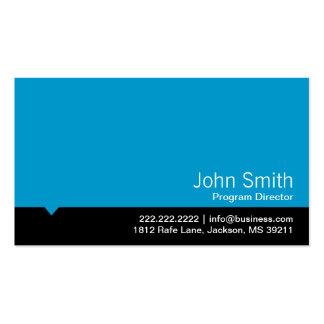 Tarjeta de visita azul moderna del director de pro