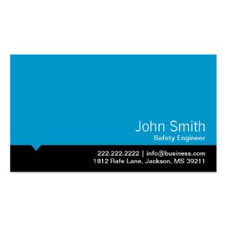 Tarjeta de visita azul moderna del ingeniero de se