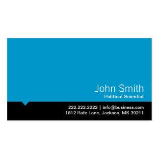 Tarjeta de visita azul moderna del politólogo