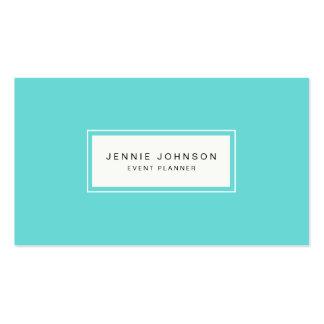 Tarjeta de visita azul moderna elegante de Tiffany