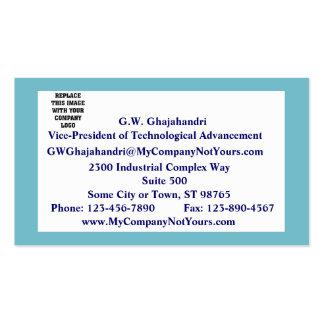 Tarjeta de visita azul serena de la declaración de