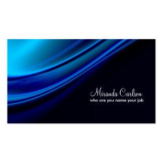 tarjeta de visita azul simple