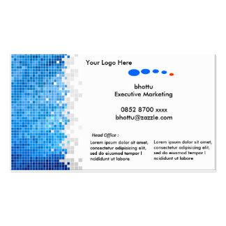Tarjeta de visita - azul y blanco
