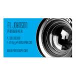 Tarjeta de visita básica de la fotografía (caramel