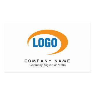 Tarjeta de visita blanca clásica con el logotipo