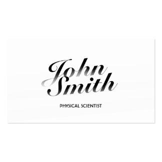 Tarjeta de visita blanca con clase del científico