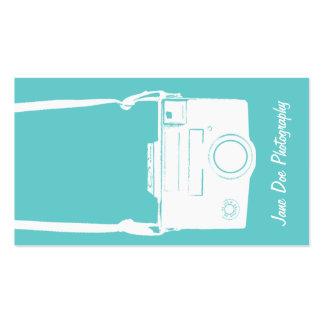 Tarjeta de visita blanca de la cámara del vintage